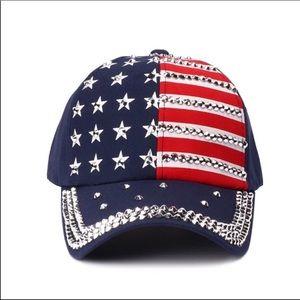 Accessories - American Flag Riveted Cap